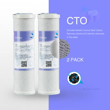 Compressed Activate Carbon Filter Cartridge RO Filtration Water Treatment 2 Pack