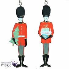 Gisela Graham Traditional Queen Guardsman Soldier Wood Christmas Tree Decoration