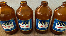 """Lot of 4 HAMM'S """"From The Land Sky Blue Waters"""" 1960s 12oz Stubby Glass Bottles"""