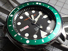 FIVE.DOTS.ONE ROLEX GREEN CUSTOM B.INSERT F. SEIKO SKX WITH 5 LUM. DOTS Z-02-E