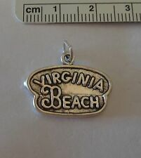 Sterling Silver 17x23mm 5g says Virginia Beach Charm