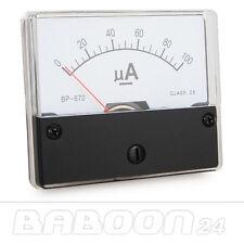 Messinstrument 0 - 100 uA DC zum Einbau, Einbaumessinstrument Analog Amperemeter