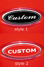 CUSTOM MADE FORD F150 F250 F350 OVAL EMBLEM OVERLAY DECALS GUNNER GRAPHICS