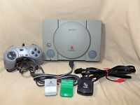 Sony Playstation 1 PS 1 Console Bundle w Controller 2 Memory Cards Working 7542