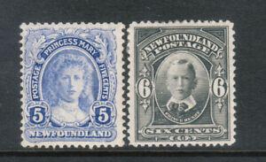 Newfoundland #108 - #109 Very Fine Mint Original Gum Hinged Duo