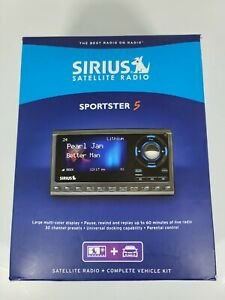 Sirius Satellite radio Sportster 5 (with manual) Tested 2 Aux Cassets Included