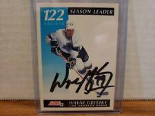 91/92 Score LA Kings Signed Wayne Gretzky 122 Assists Season Leader #295 COA
