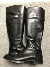 5883c299d43a2 Coach NEW Micha Womens 9 39 Black Leather Ankle Cross Strap Tall Riding  Boots