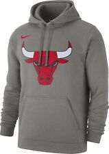 New 2019-2020 Nike Chicago Bulls Icon Edition Club Logo Pullover Fleece Hoodie