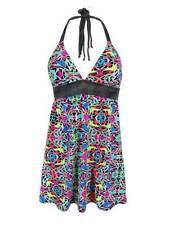 Coco Rave Women's Geo-Print Halter Tankini Swimsuit Top (S, Multi)