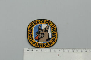 BS225: Stoffabzeichen Luzern Polizeihunde Führer Polizeihundeführer Selten