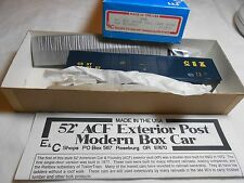 HO TRAIN E&C SHOPS 50' ACF DROOP SILL CORR DOOR BOXCAR KIT CSX MADE IN THE USA!
