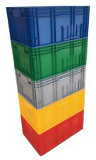 3 x 52L Heavy Duty Euro Plastic Stacking Industrial KLT Storage Containers Boxes
