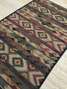 5x8 Wool Kilim Hand woven Flat Weave Tribal Rug Southwestern Reversible. *NEW*