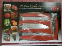 Chef Deluxe Miracle Edge 21 Piece Kitchen Cutlery Set Brand New