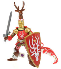 """Papo Medieval Era Weapon Master RED STAG KNIGHT 3.5"""" Figure Figurine 2007"""