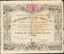 DECO & RARE => Compagnie Maritime VALERY Frères & Fils (BASTIA CORSE) (V)