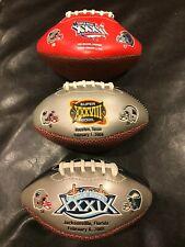 New England Patriots Super Bowl Mini Football Lot of 3 XXXVI, XXXVIII, XXXIX