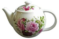 One cup teapot  Pink rose design.  holds just 1 cup of tea perfect for one