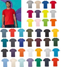B&C Collection #E190 TU03T - Mens Plain Cotton T-Shirt Mid Weight Straight Fit