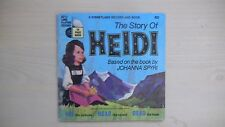 "Disneyland Book and Record THE STORY OF HEIDI 7"" 33rpm 1968"