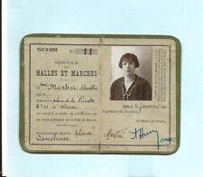 Rouen 1934 carte autorisation vente ambulante halles et marché