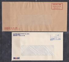 New Zealand Stamps - Postage Paid Imprints - On Cover - 2 Different