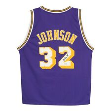 Magic Johnson auto Reebok Los Angeles Lakers Purple Soul Swingman Jersey BAS
