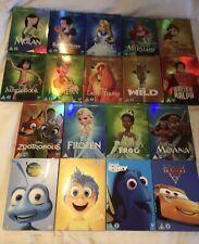 Disney Dvd O Ring Bundle Collection - Cars, Moana, Snow White, Alice, Mermaid...