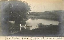 1908 Pecatonica River Southern Wisconsin RPPC real photo 2542