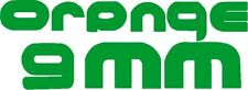 "17046 Green Orange 9Mm 90s Metal Music Band Rub-on Vinyl Sticker Decal 9.63"" New"