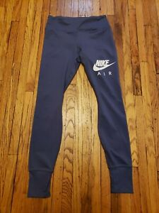 NIKE AIR WOMENS DRY DRI FIT TIGHT FIT SIZE SMALL RUNNING LEGGINGS BLUE