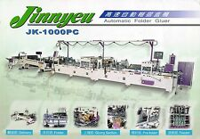 Folder Gluer for straight line, auto lock buttom and double wall boxes.
