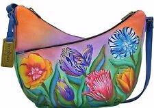 Anuschka Turkish Tulips  U-Top Convertible Hobo, Genuine Leather 518-TTP