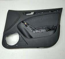 2011 09-16 AUDI S4 A4 B8 INTERIOR FRONT RIGHT BLACK LEATHER DOOR PANEL TRIM OEM