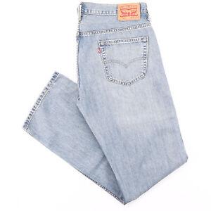 LEVI'S 569 Blue Denim Loose Straight Jeans Mens W36 L36