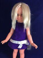 "Ideal Crissy Doll Grow Hair Blonde 1970's 15"""