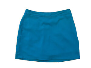 Ashworth Womens Skort Size 12 Tennis Golf Pockets Teal Blue Poly Spandex GUC