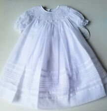 Girls WILL'BETH white heirloom smocked bishop dress 18 24 months NWT Christening