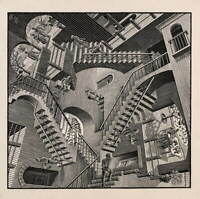 Maurits Cornelis Escher Stairs Giclee Art Paper Print Poster Reproduction