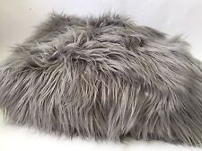 Large Faux Fur Purplish Gray Blanket Throw By Anthropologie Chroma Luxe 52 X 70