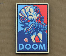 "PVC / Rubber Patch ""DOOM"" with VELCRO® brand hook"