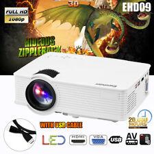 3000 Lumens LED 3D Video Proiettore HD 1080P HDMI Per CELLULARE Labtop PC DVD IT