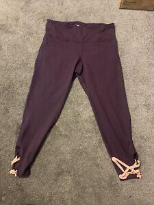 Old Navy Active Go-Dry Purple Leggings Women's Size XL