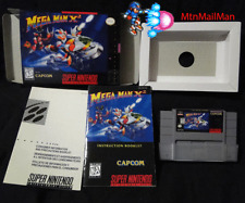 SNES Mega Man X2 CIB Authentic Cart,Insert,tray,HQ Custom Manual & Box COMPLETE