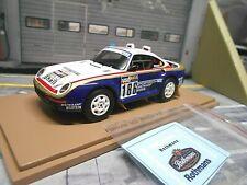 PORSCHE 911 959 4x4 Raid Dakar 1986 #186 Metge Rothm an Winner Spark Resin 1:43