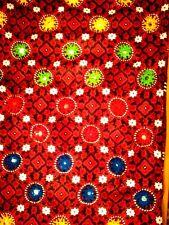 Ladies Ajrak Sindhi Pakistan Handmade Mirror work Embroidered shawl scarf