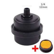 USA 1/4BSP 12mm Male Thread Air Compressor Intake Filter Muffler Silencer kit