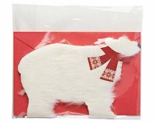 American Greetings Polar Bear Christmas Card with Fur