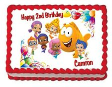 Bubble Guppies edible cake image birthday cake image cake topper decoration